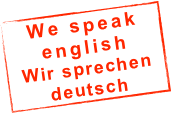 We speak english Wir sprechen deutsch